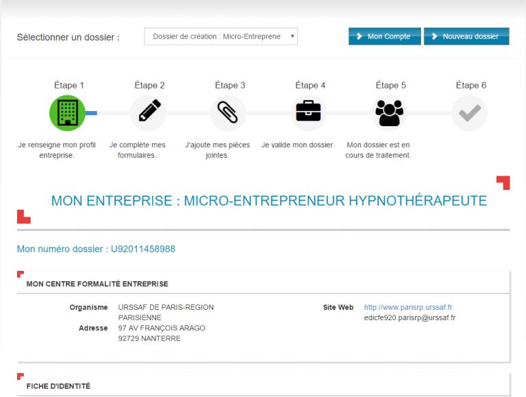 immatriculation micro-entrepreneur