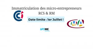 Immatriculation des micro-entrepreneurs au RCS et au RM