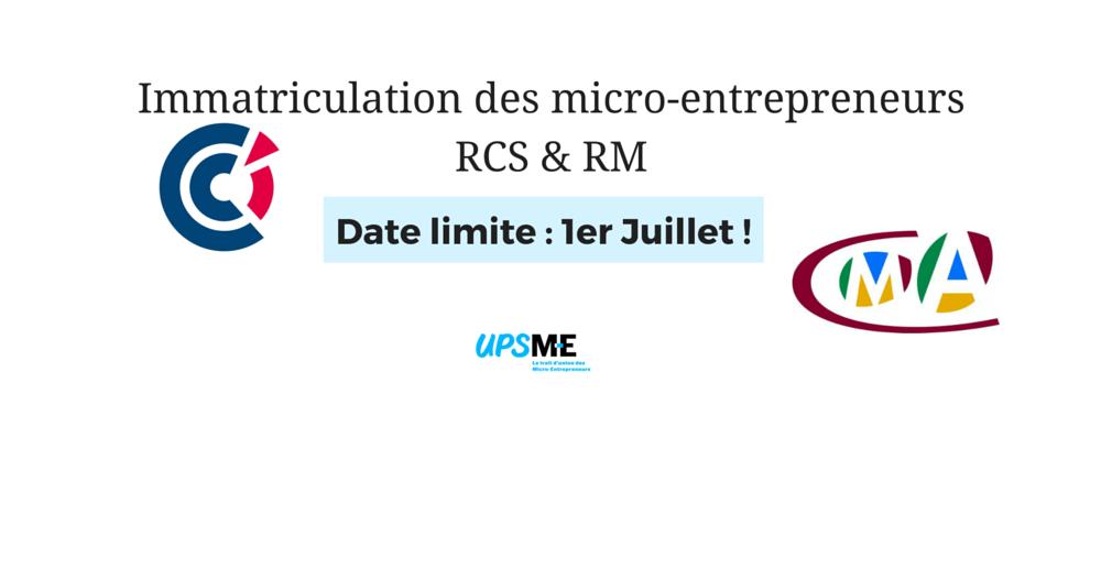 L'obligation d'immatriculation RM RCS du micro-entrepreneur