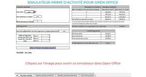 simulateur de prime d'activité pour les micro-entrepreneurs avec openoffice by UPSME