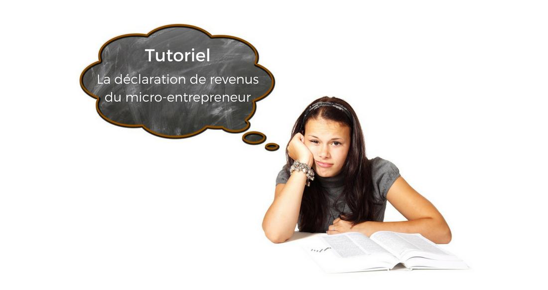 Tutoriel – Déclaration impôts du micro-entrepreneur