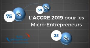 L'ACCRE 2019 pour les micro-entrepreneurs