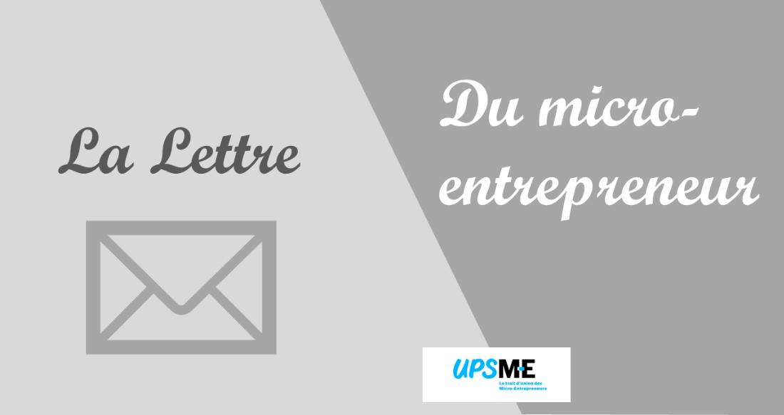 La lettre du micro-entrepreneur