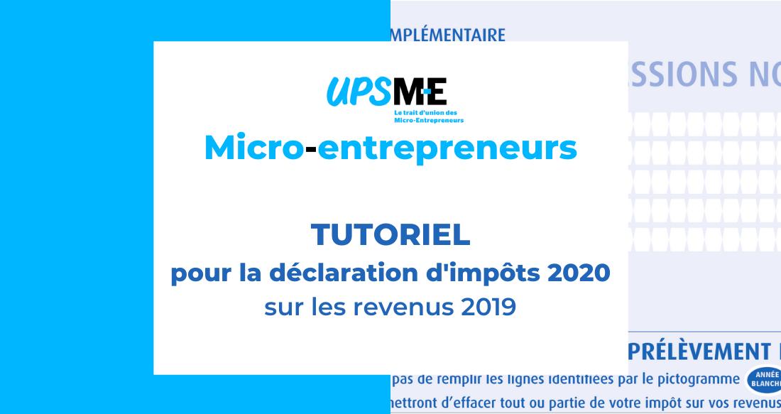 La déclaration d'impôts 2020 du micro-entrepreneur