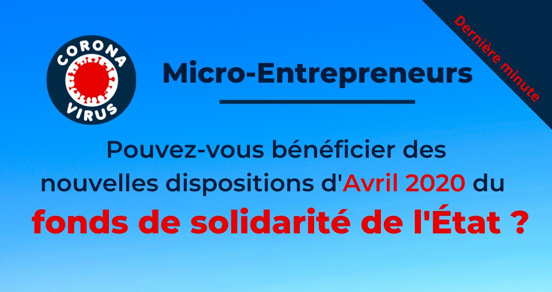 Micro-entrepreneur : êtes-vous éligible au fonds de solidarité de l'État ?