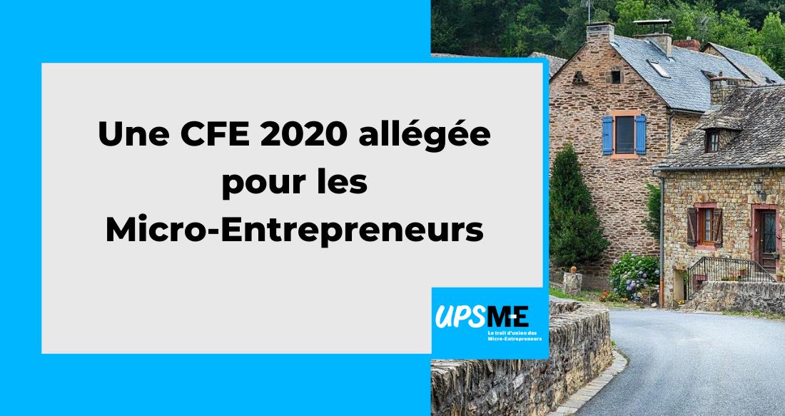 Une CFE 2020 allégée pour les micro-entrepreneurs