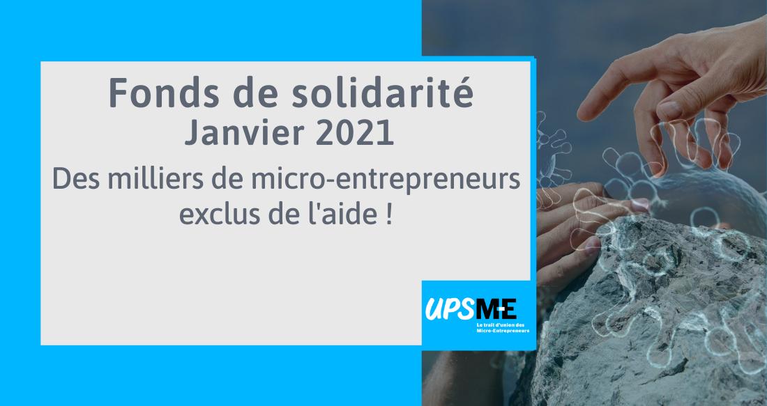 Fonds de solidarité Janvier 2021: des milliers de micro-entrepreneurs exclus de l'aide !