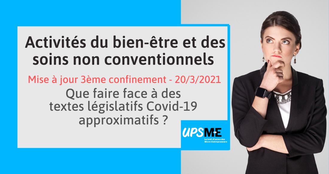 Les micro-entrepreneurs du bien-être face aux approximations des textes législatifs «Covid-19»